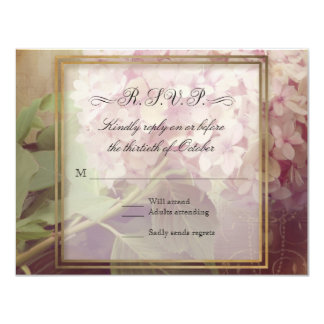 """El bonito cuadrado se ruboriza boda rosado del invitación 4.25"""" x 5.5"""""""