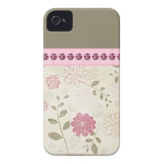 El bonito Jeweled los casos del iPhone iPhone 4 Case-Mate Protector