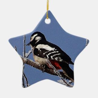 El bonito manchó la pulsación de corriente adorno navideño de cerámica en forma de estrella