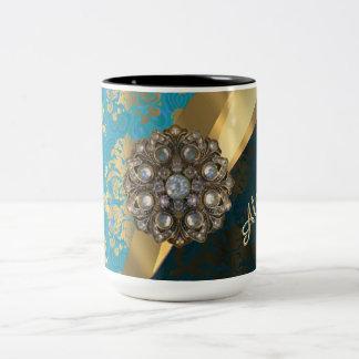 El bonito personalizó el modelo femenino del taza dos tonos