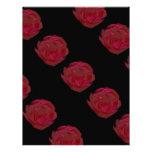 El bonito pintó arte del rosa rojo membretes personalizados