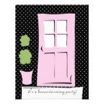 El bonito se ruboriza puerta rosada invitaciones personales