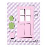 El bonito se ruboriza puerta rosada invitación personalizada
