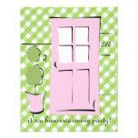 El bonito se ruboriza puerta rosada comunicados personalizados