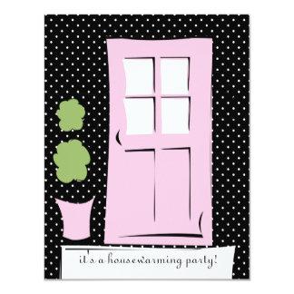 """El bonito se ruboriza puerta rosada invitación 4.25"""" x 5.5"""""""