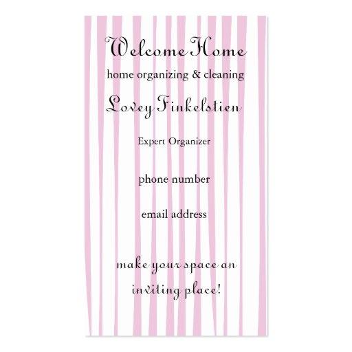 El bonito se ruboriza puerta rosada tarjetas de visita