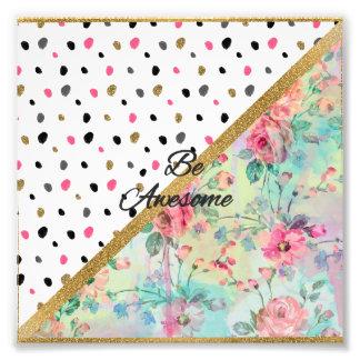 """El bonito """"sea diseño abstracto floral"""" de la cita fotografía"""