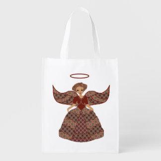 El bonito vistió para arriba ángel bolsa reutilizable