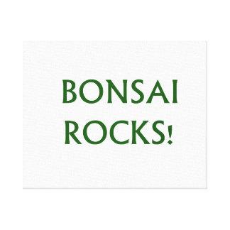 El bonsai oscila decir del lema hecho en texto ver impresión en lienzo estirada