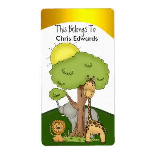 El Bookplate etiqueta a niños de las adolescencias Etiquetas De Envío