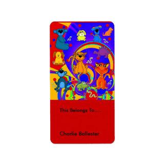 El Bookplate etiqueta a niños los pegatinas los an Etiqueta De Dirección
