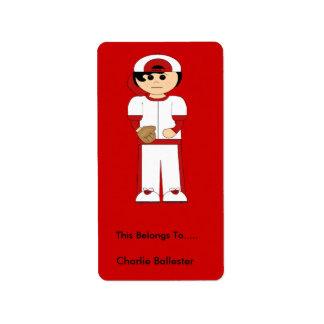 El Bookplate etiqueta a niños los pegatinas los de Etiquetas De Dirección