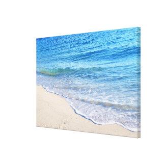 El borde 4 del agua impresión en lienzo