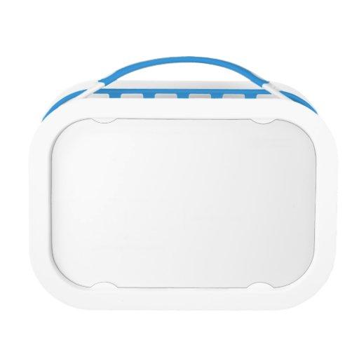 El borde azul hace su propia caja del almuerzo de