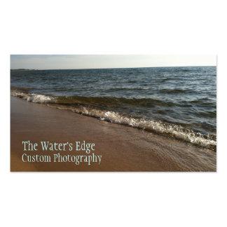 El borde del agua tarjetas de visita
