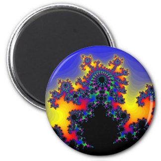 El borde del fractal: imán redondo 5 cm