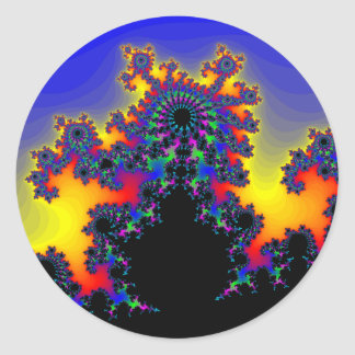 El borde del fractal: pegatina redonda