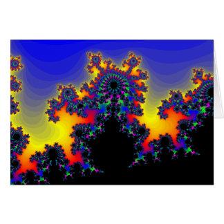 El borde del fractal: tarjeta de felicitación