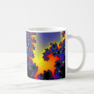 El borde del fractal taza de café