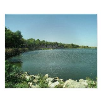 El borde del lago arte con fotos