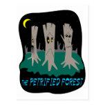 El bosque aterrorizado tarjetas postales