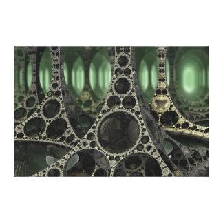 el bosque de aluminio lona envuelta para galerías
