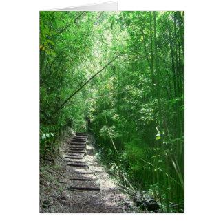 El bosque de bambú tarjeta de felicitación