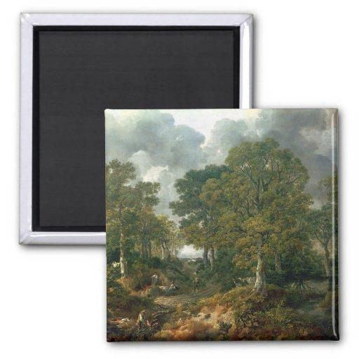 El bosque de Gainsborough, c.1748 Imanes Para Frigoríficos