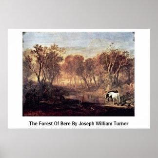 El bosque de la cebada de José Guillermo Turner Poster