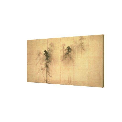 El bosque de pinos impresión en lienzo