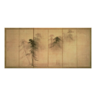 El bosque de pinos posters