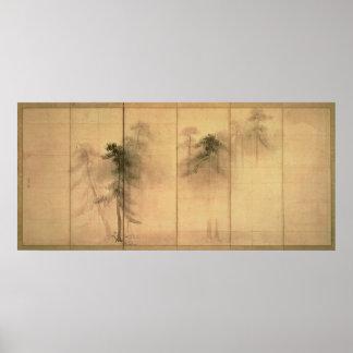 El bosque de pinos póster