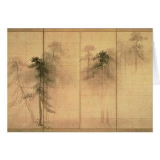 El bosque de pinos felicitación