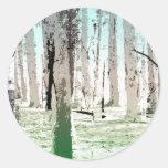 El bosque del abedul etiquetas redondas