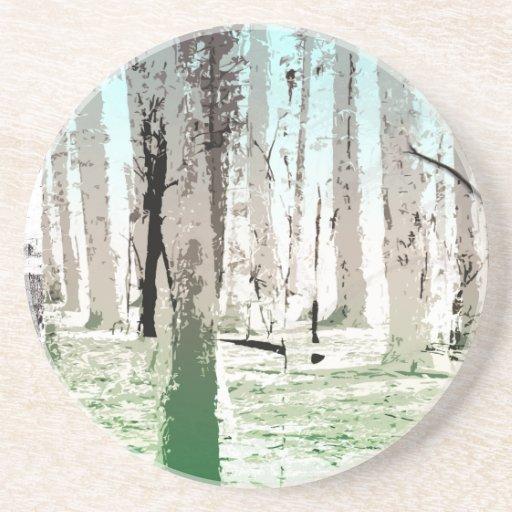 El bosque del abedul posavasos diseño