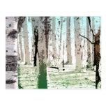 El bosque del abedul tarjeta postal