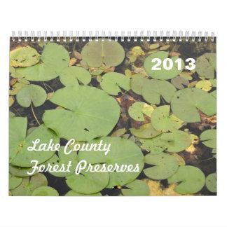 El bosque del condado de Lake preserva el Calendario De Pared