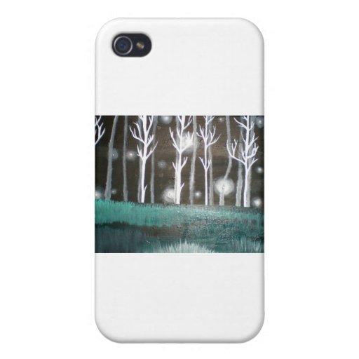 El bosque encantado iPhone 4 carcasas
