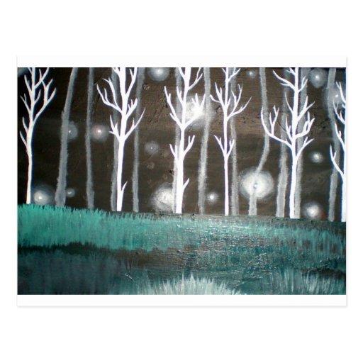 El bosque encantado postal