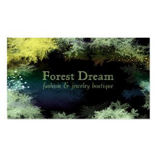 El bosque estrellado sale de tarjetas de visita