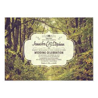 """el bosque inspiró invitaciones del boda de la invitación 5"""" x 7"""""""