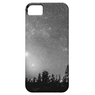 El bosque siluetea la astronomía de la iPhone 5 carcasa