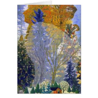 """El """"bosque soña"""" la tarjeta"""