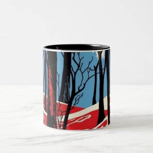 El bosque taza de dos tonos