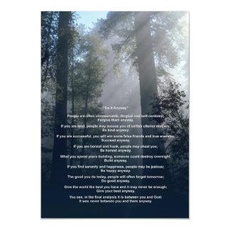 El bosque y Sun lo hacen de todos modos Invitaciones Magnéticas
