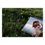 """El """"bosquejar de la naturaleza """" tarjeta"""
