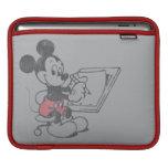 El bosquejar de Mickey del vintage Funda Para iPads