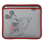 El bosquejar de Mickey del vintage Mangas De iPad