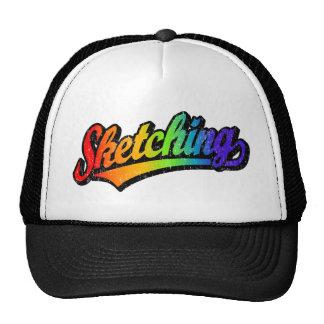 El bosquejar gorras