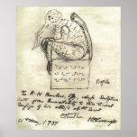 El bosquejo 1934 de Lovecraft Posters